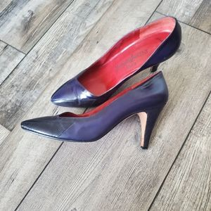 Vintage ysl purple heels